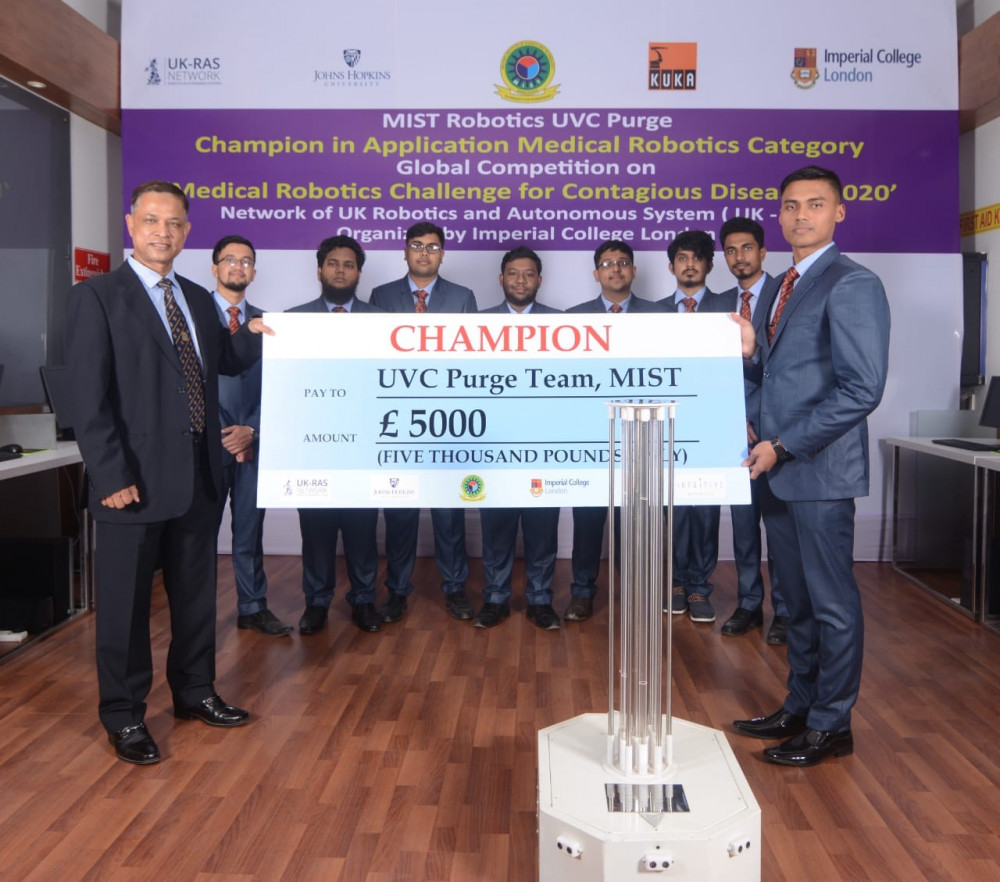 MIST wins global championship in Medical Robotics Competion parallel with Johns Hopkins University, USA and Leeds University, UK